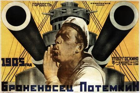 Bronenosets-Potemkin-Battleship-potemkin-sailor-raising-alert--film-cover