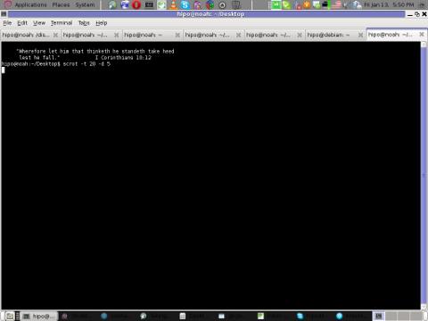 Screenshot scrot my debian Linux gnome-termina