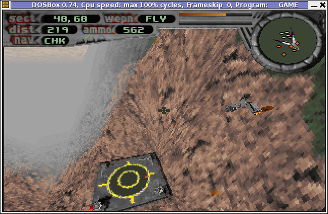 3D Realms Terminal Velocity Screenshot Level 5 Debian Linux Squeeze dosbox
