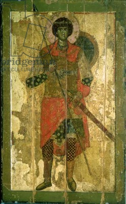 Orthodox Christian icon saint George dated to 1130 - 1150 A.D.