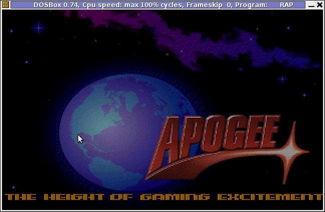Apogee Raptor Screenshot Dosbox Debian linux