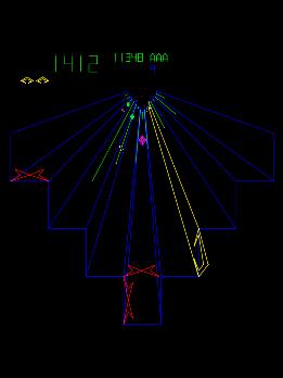 Arcade atari old scool tunnel game tempest one of atari pre 3d game classics