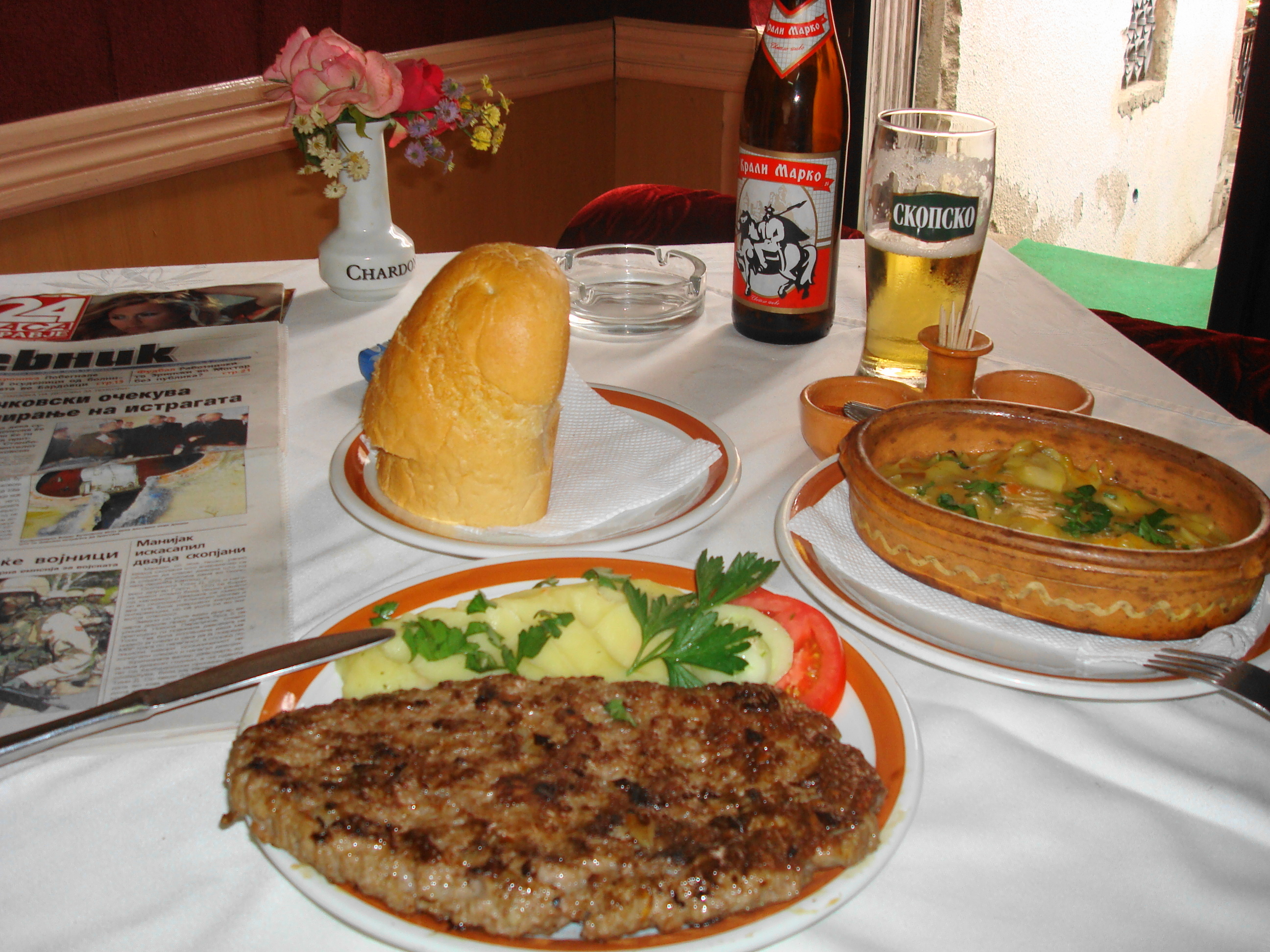 Pljeskavica - Serbian Traditional most popular food meal