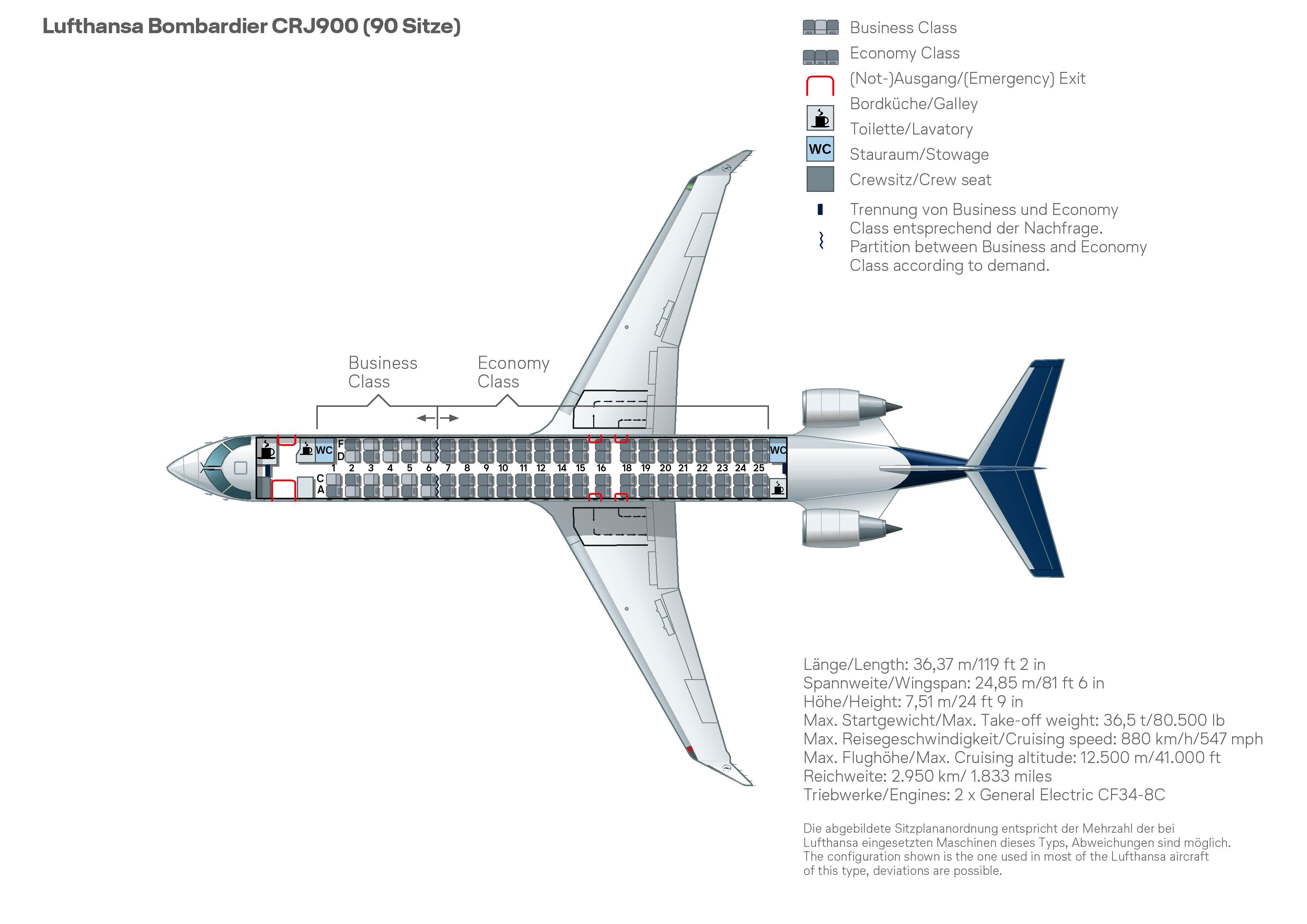 Bombardier-CRJ900-plane-placing-Lufthansa