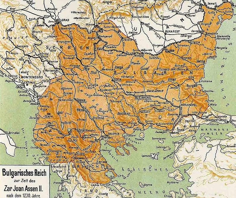 Bulgarian-Empire-under-King-Ivan-Asen-II-map-1917
