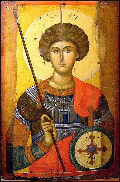 Byzantine-orthodox-icon-of-saint-George-XIV-century