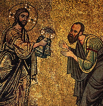 Christ-giving-holy-sacraments-to-holy-apostle-Paul