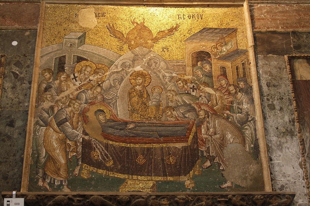 Dormition-of-Mother-of-God-Koimesis_Greek_Mosaic_at_Chora_Church_Constantinople