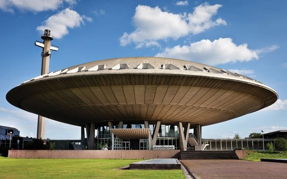 Evoluion Eindhoven UFO like building one of the most notable buildings in Eindhoven - Symbol of Human knowledge evolution