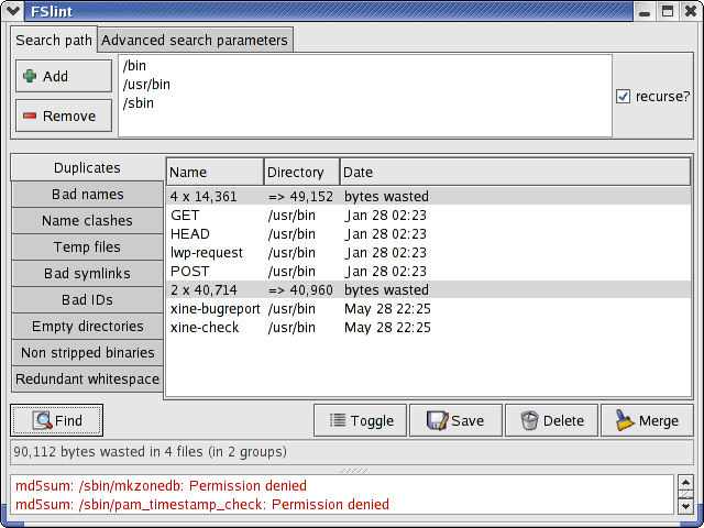 FSlint-2.02-search-for-duplicate-and-lint-files-linux-gui-tool