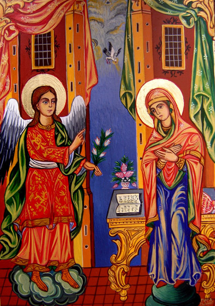 Feast-of-Annunciation-tbe-good-news-of-Christs-birth-are-told-to-theTheotokos