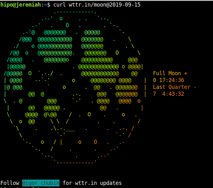 how to get weather forecast prognosis from command line text terminal / console on Linux and FreeBSD