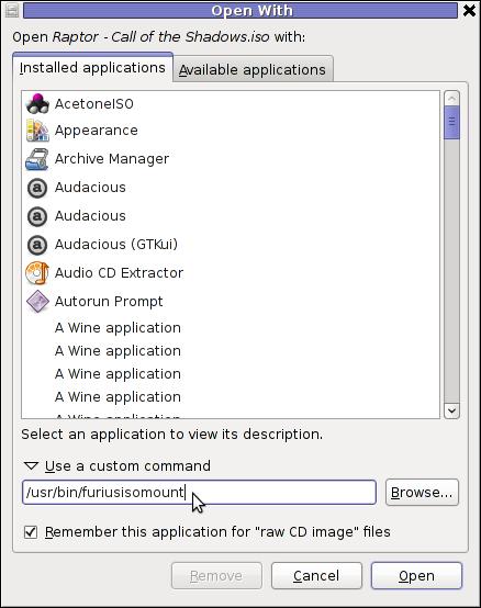 GNOME Open with menu Debian GNU / Linux