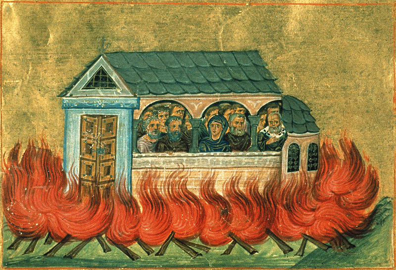 Holy martyrs of Nicomedia Menologion of Basil II orthodox christian icon