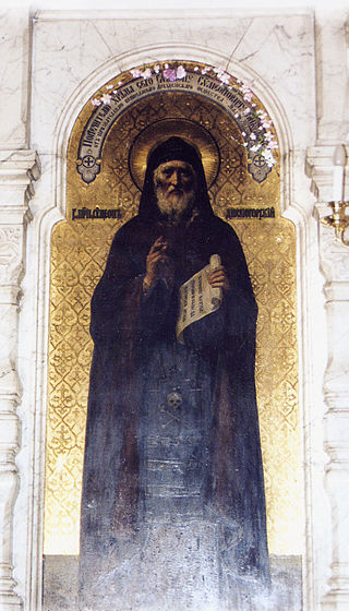 Icon-Ikona-swjatogo-saint-Semiona-Divnogorca-Stylpnik-mladshi-Dresden