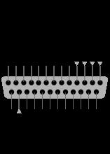 LPT parallel port pinout diagram with explanations