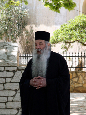 A really Long bearded Orthodox Christian Priest