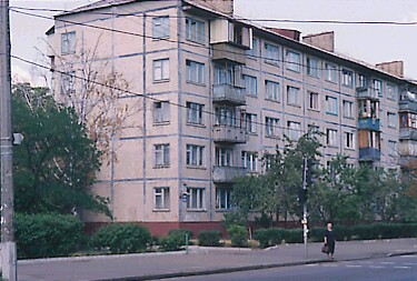 Minsk Panelnij dom panel block Minsk - typical construction for Minsk remains from Communism