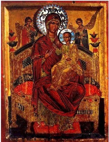 PanagiaPantanassa-Vsecarica-Miracle-making-icon-Holy-Mounth-Athos-Vatopedi-convent