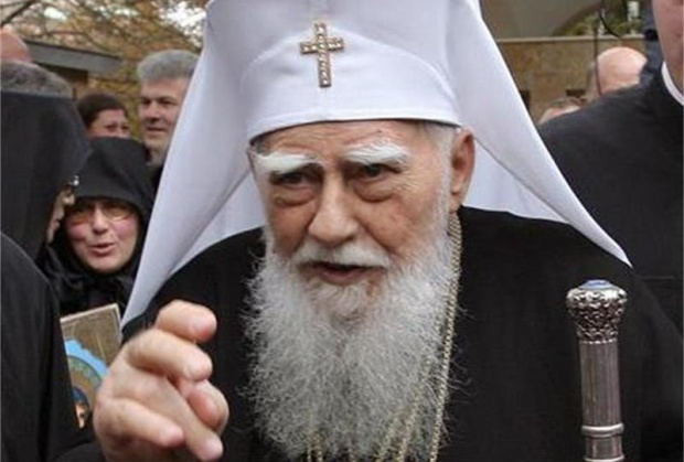 Patriarch Maxim blessing the Bulgarian Orthodox Christians