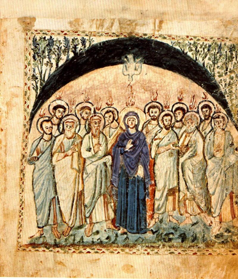Pentecost_Rabula_Gospels-6th-century
