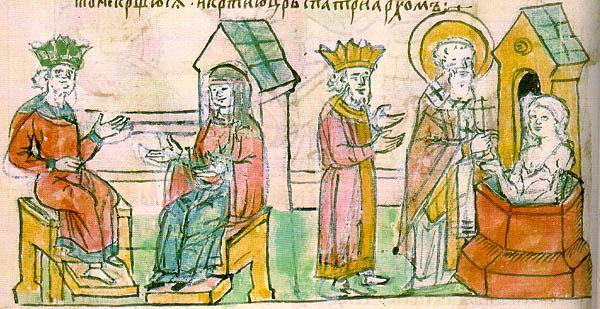Primary_Chronicle_Povesti_Vremeninnih_let-baptizmal-of-Olga