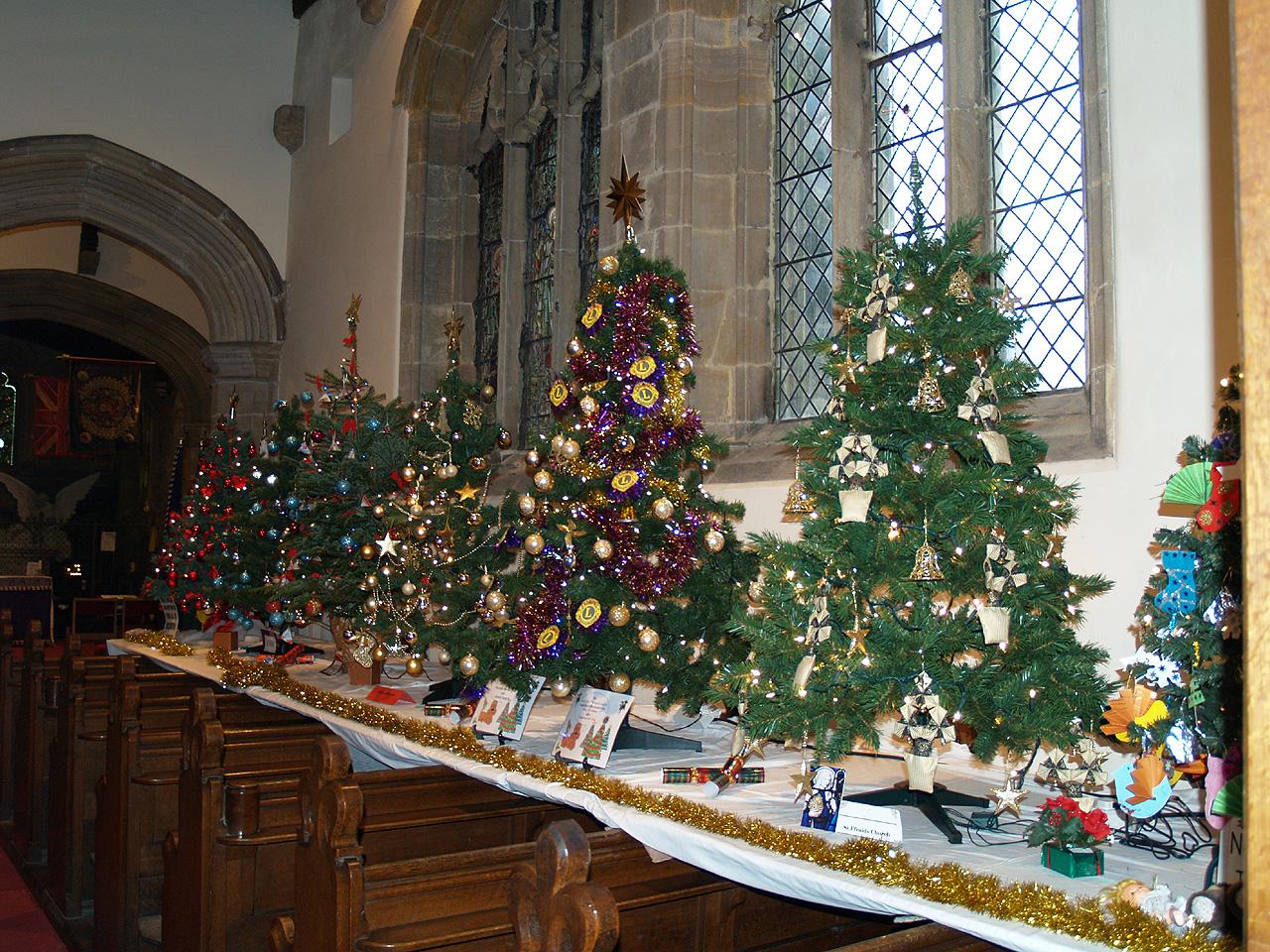 Roman Catholic Church Christmas Pine Trees