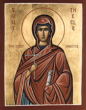 Saint Thekla  Protomartyr first christian woman martyr and protector of computer related professions and nerds