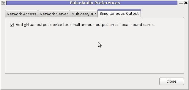 PulseAudio simultaneous output