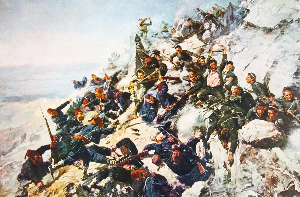 Shipka-Ottoman-Turkish-fighting-with-Bulgarian-and-Russian-armies-on-Shipka