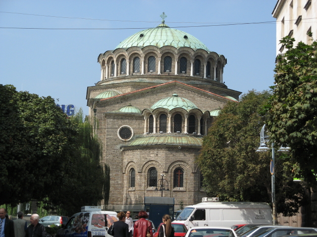 Sofia Orthodox Cathedral Church building where saint King Milutin incorruptable body is kept