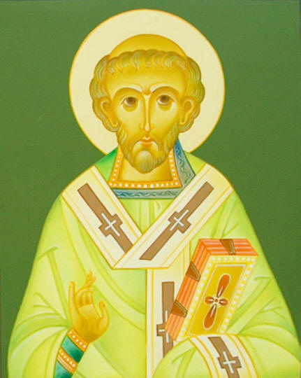 Saint Willibrordus apostle of Holland ( from Husstege's icons)