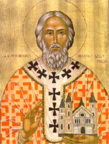 St. Willibrord Apostle of Friesland (Netherlands) Italian parish orthodox icon