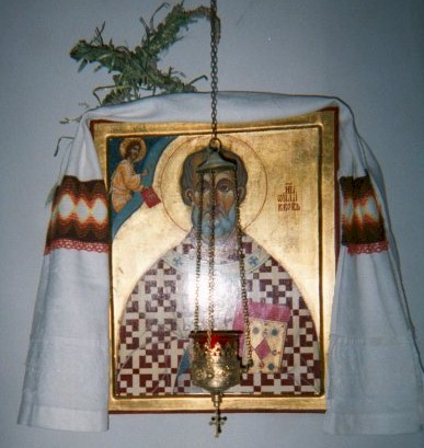 Saint Willibrord icon, picture taken somewhere in Netherlands