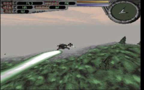 Terminal Velocity TV DOS game screenshot