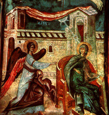 The Annunciation of Christ's conceive to the Blessed Virgin Mary icon
