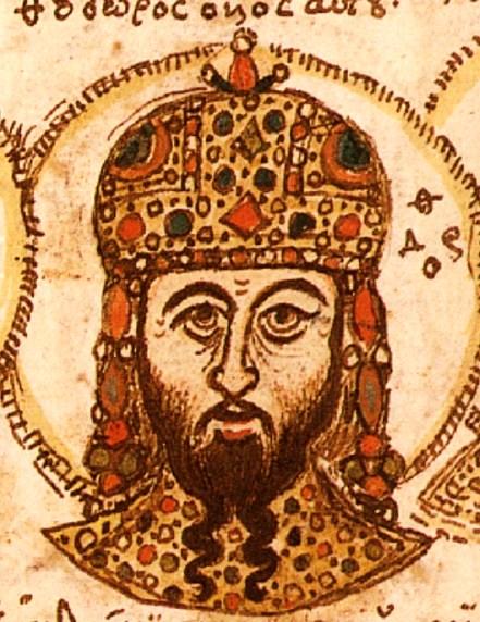 Theodore II Laskaris head painting