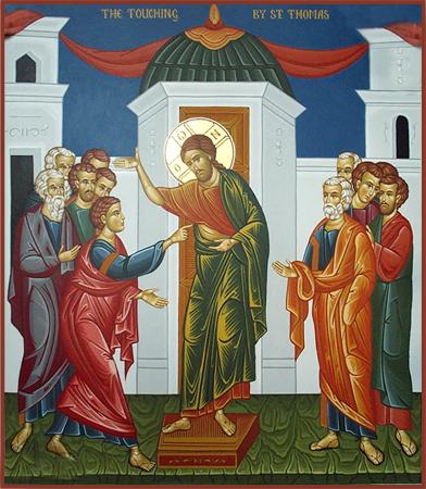 Thomas-sunday-the-day-of-disbelieve-Thomas-reaching-to-Jesus-wounds