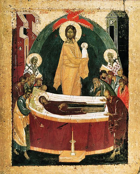 Uspenie Bogorodichno, The Dormtion of the Theotokos (Virgin Mary