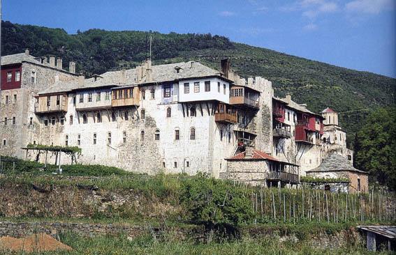 Xiropotamou_monastery_Holy_mount_Athos_Agios_Oros_The_Monastery_holding_big-piece-of-True-Crufixion-cross-of-the_Lord_Jesus_Christ