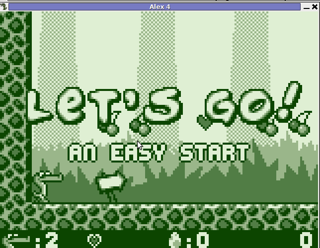 Alex The ALligator level 1 on Linux screenshot