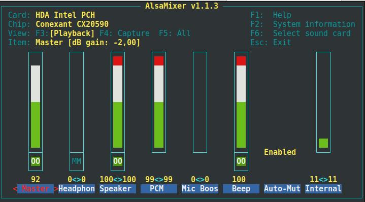 alsamixer-linux-screenshot