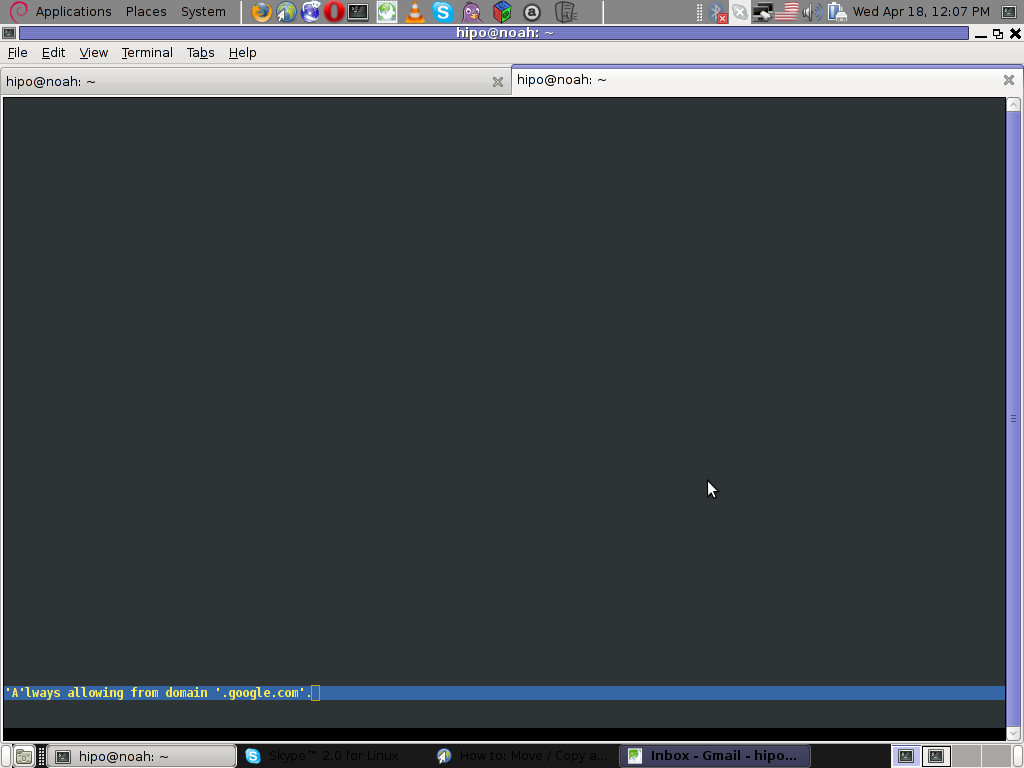 lynx Always allowing from domain cookies Linux screenshot