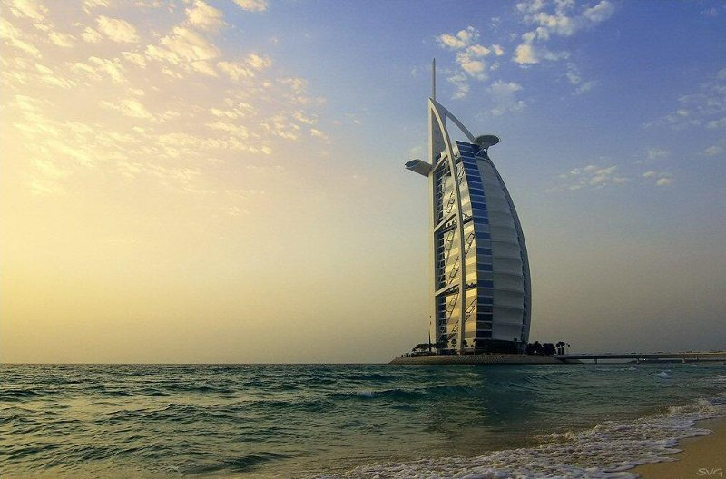 Burj Al Arab and Dubai shoe pciture