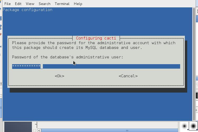 cacti-monitoring-debian-linux-mysql-root-password-screenshot