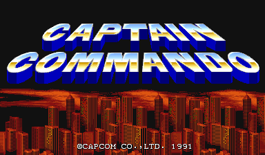 captain_commando_arcade-game-logo running on xmame Linux