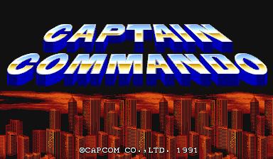 captain_commando_arcade-game-logo running on xmame Linux