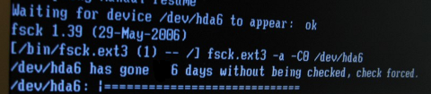 Increasing default setting of automatic disk scheck on Debian Linux to get rid of annoying fsck waiting on boot /  Less boot waiting by disabling automated fsck root FS checks