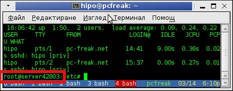 Change hostname on Debian and Ubuntu Linux terminal hostname screenshot