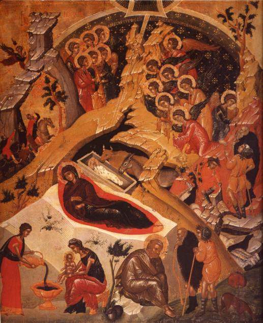 Christ's Birth Orthodox icon, Merry Christmas